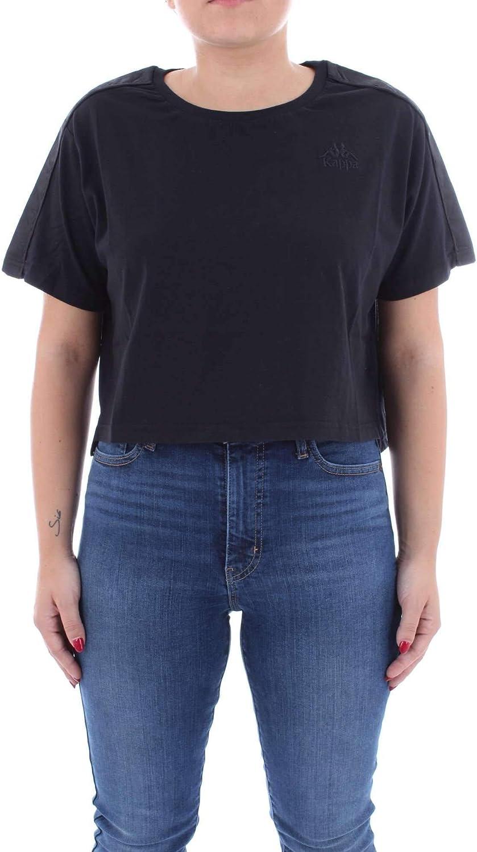 Kappa Women's 3030CE0005 Black Cotton TShirt