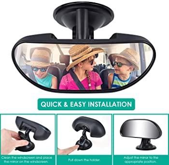 Alcoon Upgrade Baby Car Backseat Mirror Rear View Facing Back Seat Mirror Baby Safety Rearview Mirror for Infant Todd...