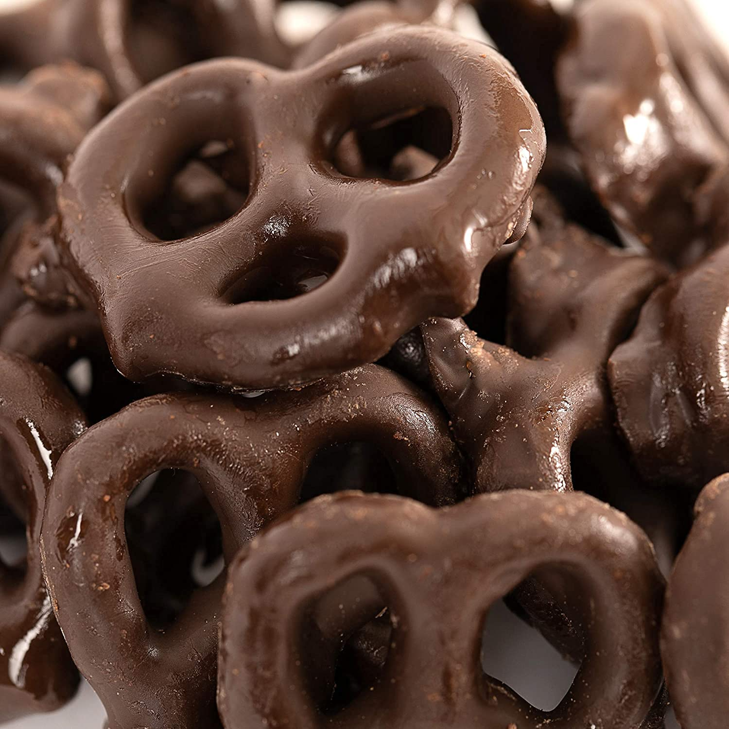 Sales for sale CrazyOutlet Dark Chocolate Covered Recommendation Almond Pretzels Dusted Cocoa