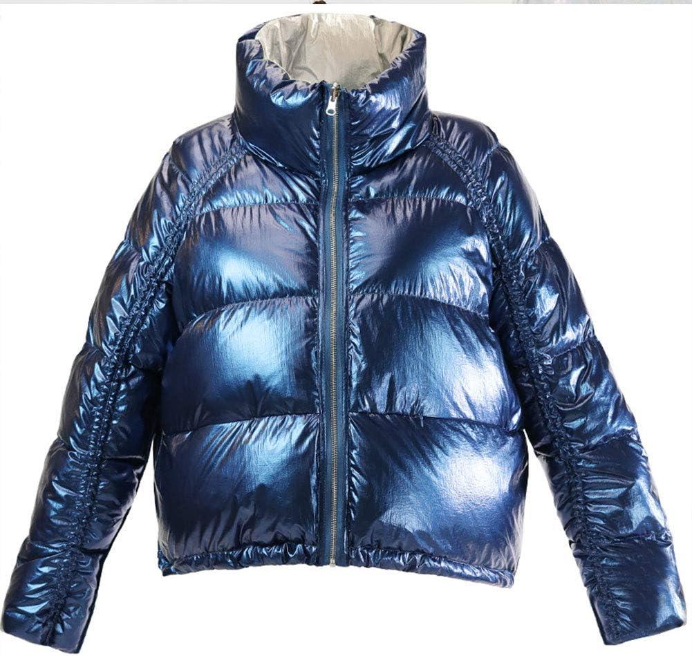 RSTJ-Sjc Women's Down Jacket Ultralight Warm Ladies Puffer Down Quilted Winter Jacket Short Coat Chic Zipper Parka Warm Outdoor Overcoat (Most Wished &Gift Ideas),Blue,M