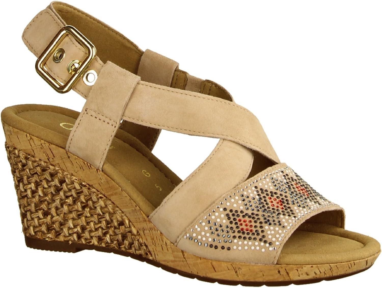 Gabor Damen Sandaletten 82.820.44 beige 436217    Jeder beschriebene Artikel ist verfügbar