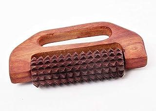 PMK masajeador de madera Pie y Cuerpo acupresión rodillo masajeador, el alivio del dolor en forma de D con masajeador de la manija.