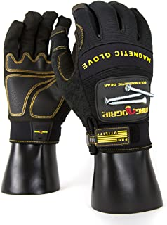 MagnoGrip 002-689 Pro Utility Magnetic Glove with Touchscreen Technology, Medium, Black