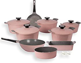 NeoFlam Cooking Set 14 PC Xterma Granite pink