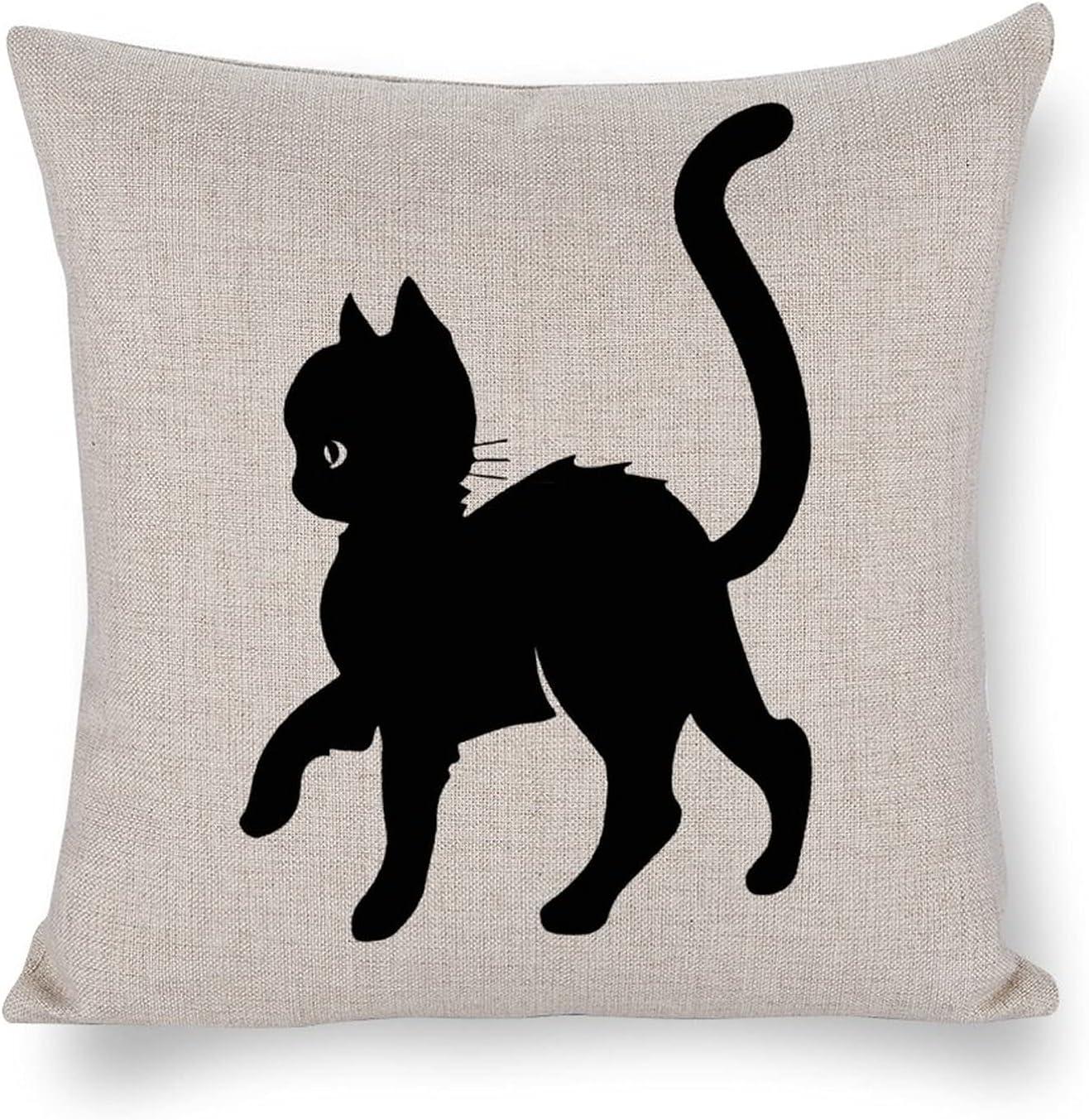 UTF4C Cat Cotton Linen 25% OFF Sofa Sale SALE% OFF Cushion Home Decorati Art Design Bed