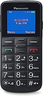 Panasonic KX-TU110EXB - Teléfono Móvil Para Personas Mayores (Pantalla y Teclas Grandes, Botón SOS, Resistente a Golpes, Linterna, Batería 22h) - Color Negro, 11,4 x 5,1 x 1,3 cm