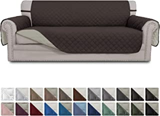 Easy-Going Sofa Slipcover Reversible Sofa Cover Water Resistant Couch Cover Furniture Protector with Elastic Straps for Pets Kids Children Dog Cat(Sofa,Chocolate/Beige)