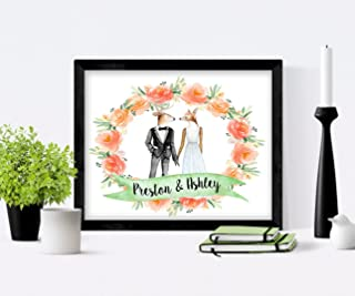 Create Your Own Watercolor Boho Animals (Fox, Lion, Rabbit, Raccoon, Deer, Wolf) Wedding Décor or Gift Lots of Options & Custom Text 8x10 Unframed Art Print