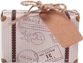 Bombones y Regalos Cajitas Originales Travel Viaje para Regalos y Detalles de Bodas Caramelos DISOK Lote de 100 Cajas para Detalles de Boda Maleta 100 Pcs Etiquetas Kraft Vintage