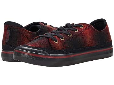 KEEN Elsa IV Sneaker (Red Plaid/Black) Women