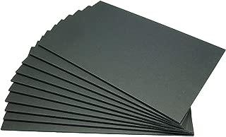 黒スチレンボード(両面黒紙貼パネル) 5mm厚 A3(よりやや大きめ)10枚入