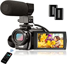 Video Camera Camcorder FHD 1080P 24.0MP, Digital Camera YouTube Vlogging Camera 270 Degrees Rotatable 3.0 inch LCD Screen 16X Digital Zoom Aazomba