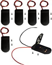 LAMPVPATH (Pack of 6) cr2032 Battery Holder Coin Cell Holder, CR2032 Battery Holder with Switch, 2 x 3V CR2032 Button Coin Cell Battery holder with Leads On Off Switch