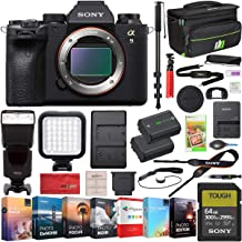 Sony a9 II Full Frame Mirrorless Interchangeable Lens Camera Body ILCE-9M2 Including Deco Gear Case Wireless Flash 64GB Me...