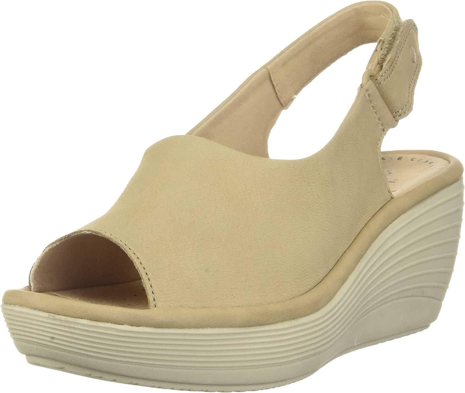 Under blast sales Clarks Women's Reedly Shaina Excellence Sandal Wedge