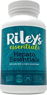 Riley's Essentials Hepato Support with Milk Thistle for Dogs and Cats - Liver Support Supplement for Dogs with Milk Thistle, Silymarin, and Antioxidants - Complete Dog Liver Supplement - 180 Caps