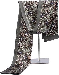 Zoncinoo 100%シルク マフラー メンズ 男性用2層 シルクスカーフ メンズ ストール ビジネス 結婚式 薄手 秋冬 春夏 各種カラー