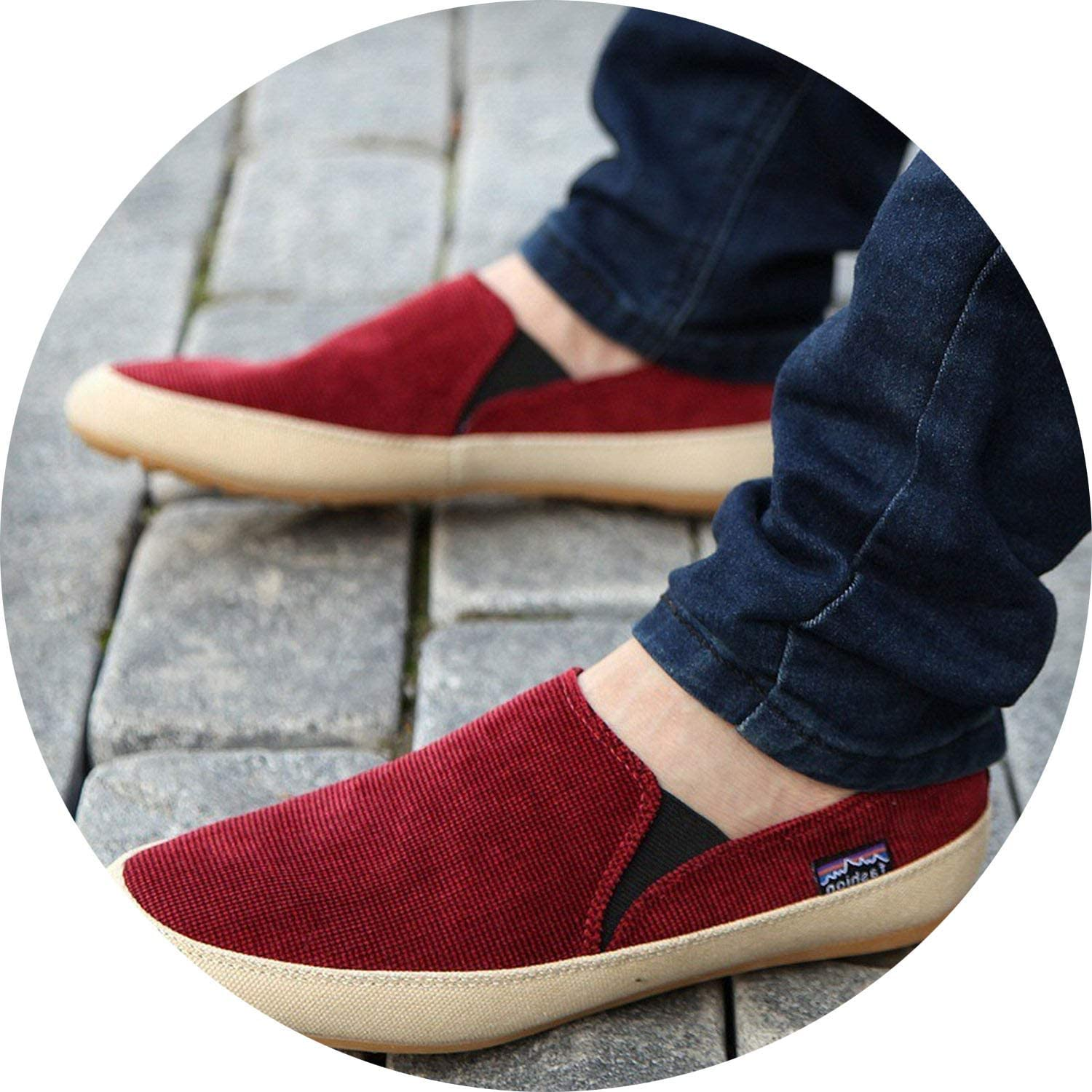 It's a big deal Summer Men's Breathable Slip-on Youth Canvas shoes