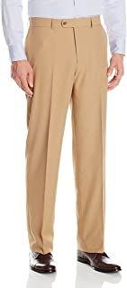 Men's Flat Front Washable Microfiber Twill Trouser