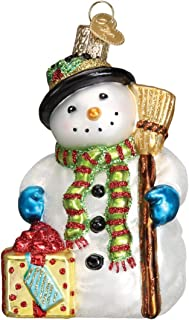 Old World Christmas Ornaments: Gleeful Snowman Glass Blown Ornaments for Christmas Tree