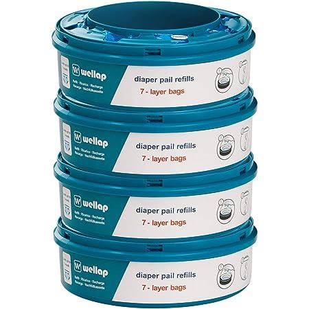 Ricarica compatibile con Tec e Twist & Click, con trattamento antiodore EVOH (4 Pezzi)