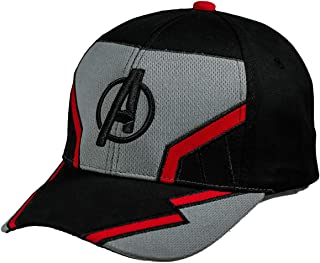 4dfd6728 Avengers Endgame Hat Quantum Baseball Cap Cosply Costume Accessories  Adjustable with Embroidery Shield for Unisex Adult
