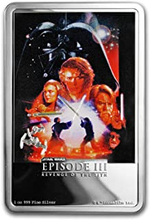 2018 NZ Niue 1 oz Silver $2 Star Wars Revenge of the Sith Poster 1 OZ Brilliant Uncirculated