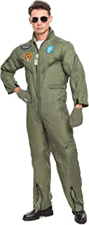 Men's Flight Pilot Adult Costume with Accessory for Halloween Party