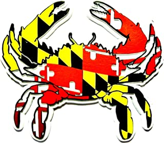 Maryland Flag Crab Shaped Fridge Magnet