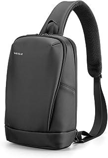 WILSLAT Waterproof Sling Bag for Men Anti-Theft Shoulder Bag Medium Chest Bag Lightweight Casual Daypack Fit 9.7 inch iPad