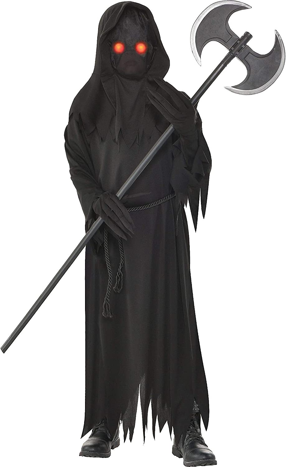 amscan Light Up Special price for a limited time Glaring Grim Halloween cheap Reaper Boys Costume for