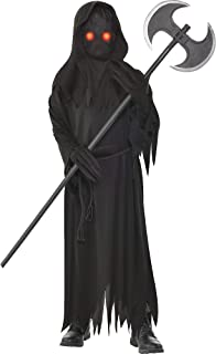 Light Up Glaring Grim Reaper Halloween Costume for Boys, Medium, with Included Accessories, by Amscan