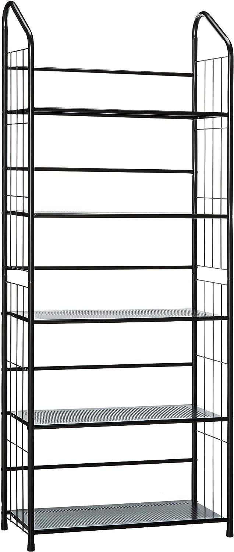 Unbrand FT-597BK-5 Black 5 Tier Metal Bookshelf Rack