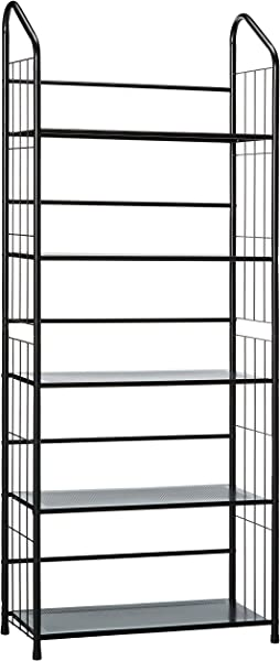 Unbrand FT 597BK 5 Black 5 Tier Metal Bookshelf Rack