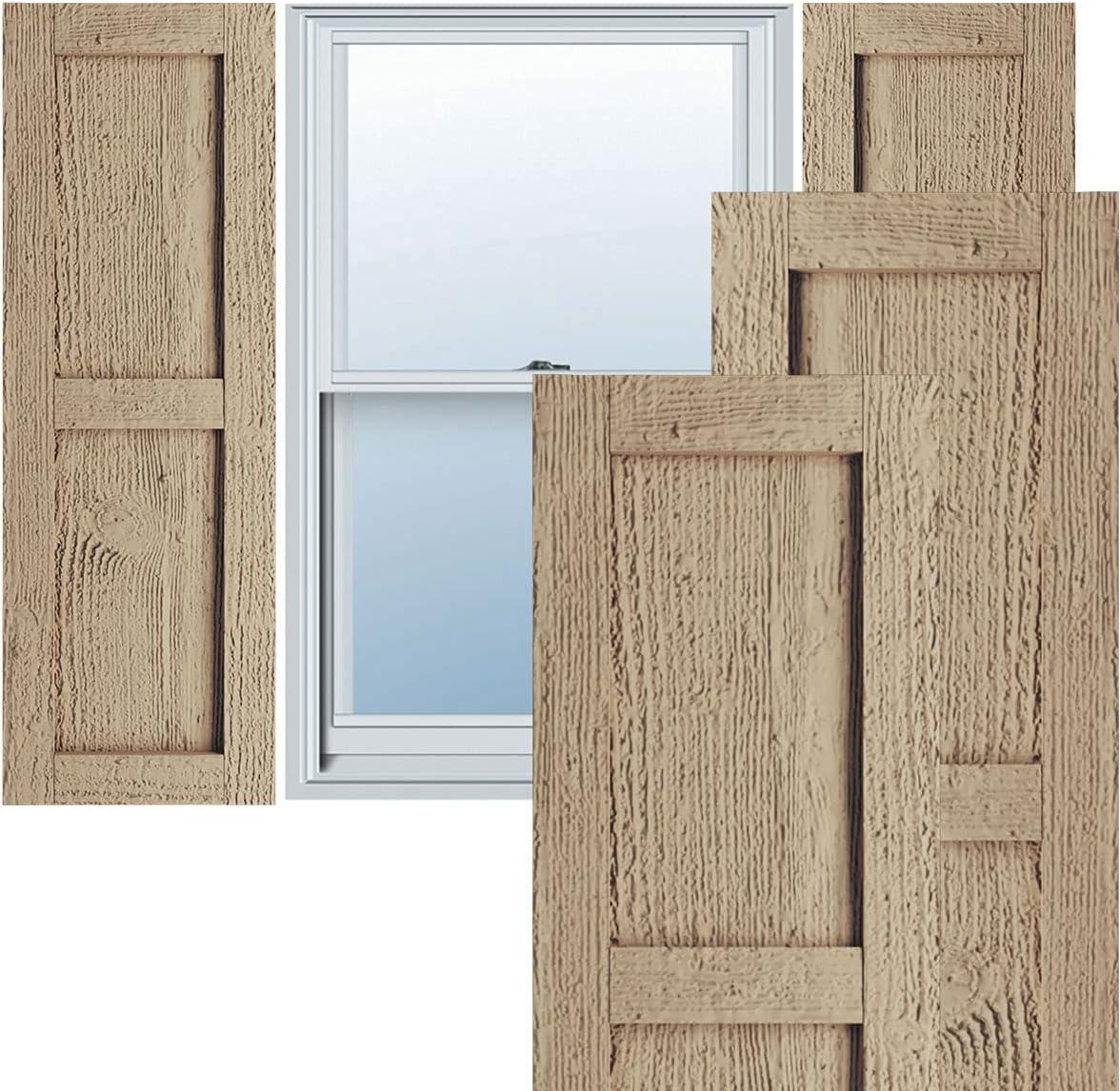 Ekena Millwork SHULVRW OFFicial shop Faux Wood Per cheap Two Pair Rustic Shutters