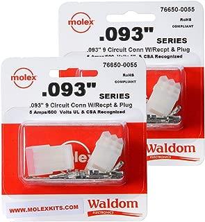 Molex (2 Set ) 9-Pin Connector Kit 0.093