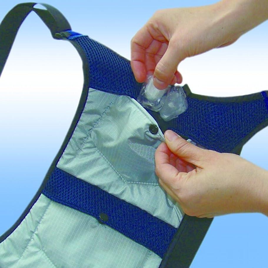 サーマルペット類人猿クールビット?アイスポケット冷袋(つめたい)4CL-IP2 水で、氷で、保冷剤で使い分けできる特許取得の冷却構造、アイシングリュック(専用保冷剤1セット付)