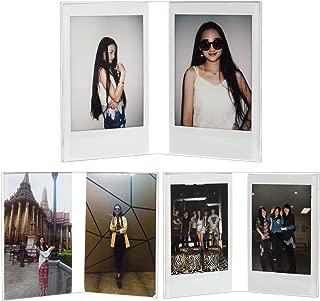 CAIUL Compatible V Model Clear Acrylic Photo Frame for Fujifilm Instax Mini 8 8+ 9 70 7s 90 25 26 50s, Instax SP-2, Polaroid PIC-300 Z2300 Film, 3 pcs