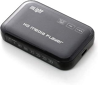 InLightメディアプレーヤー 選べる付属ケーブル(HDMI接続・VGA接続・AVコンポジット接続) MP4・FLV・MOV対応 USBメモリ・SDカード対応 写真や動画をテレビで再生 父の日ギフト プレゼント