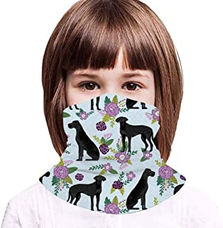 Great Dane Black Collection - Pasamontañas para niños, diseño floral, color negro