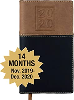 2020 Pocket Planner: Pocket Calendar Includes 14 Months (November 2019 to December 2020) / 2020 Weekly Planner/Weekly Agenda/Monthly Calendar Organizer (Black/Brown - Pack of 1)