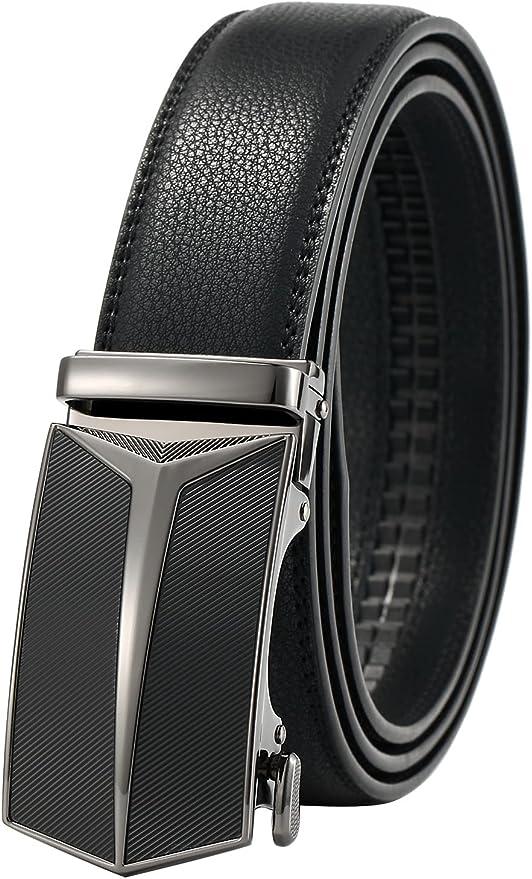 144 opinioni per GFG Cintura da Uomo in Pelle con Fibbia Automatica Sistema a Scorrimento
