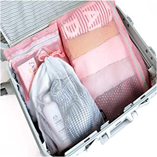 ICONIC Mesh Travel Pouch Set Cosmetic Makeup Toiletry Organizer with Zipper Bag