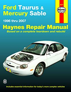 Ford Taurus & Mercury Sable (96-07) Haynes Repair Manual (Does not include information specific to SHO or E85 vehicles. Includes thorough vehicle ... noted) (Hayne's Automotive Repair Manual)