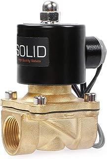 3/4 tum mässing elektrisk magnetventil 24 V DC G gänga N.C. Luftvattenbränsle VITON