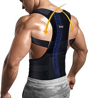 اصلاح کننده وضعیت نگهدارنده پشت با کمر تکیه گاه کمر برای دستگاه تسکین دهنده درد شانه و گردن ، بریس پشتیبانی قابل تنظیم Clavicle (سیاه ، M)