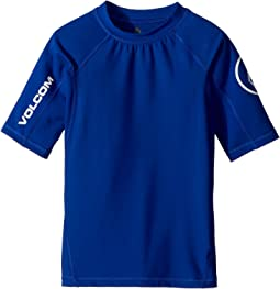 Volcom Kids - Lido Solid Short Sleeve Thrashguard (Big Kids)