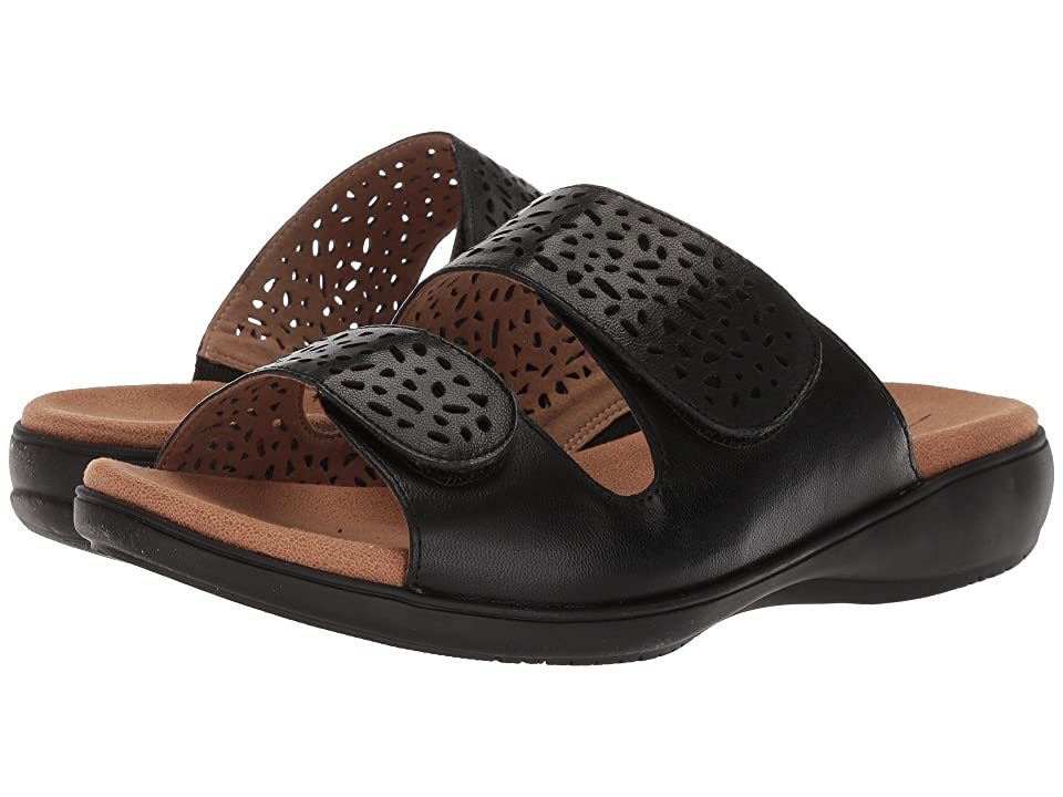 Trotters Tokie (Black Soft Leather) Women