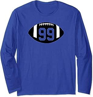 Football Jersey Number 99 Jersey Shirt Art-Player Number Long Sleeve T-Shirt