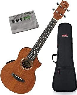 Ibanez UEW5E UEW Open Pore Acoustic-Electric Ukulele Bundle w/Gig Bag